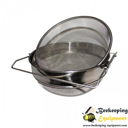 Stainless steel honey filter 21cm