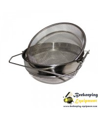 Stainless steel honey filter 21cm