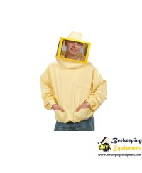 Beekeeping jacket with metal mesh